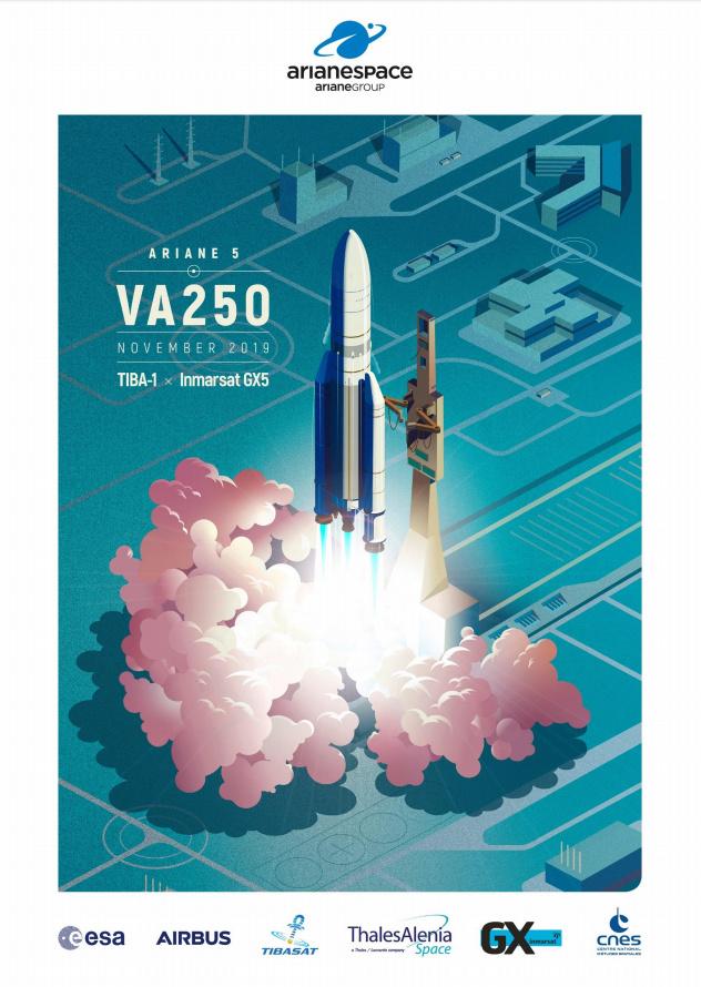 Ariane 5 VA250 (Inmarsat GX5 + TIBA 1) - 26.11.2019   11024