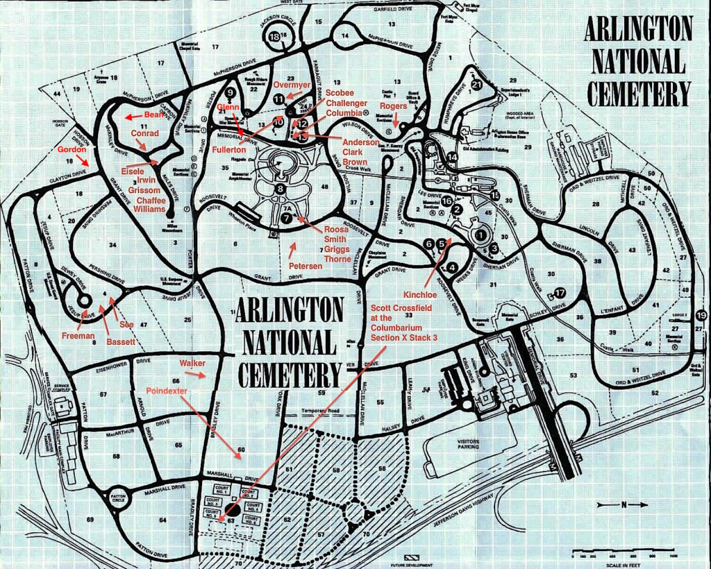 Plan du cimetière d'Arlington 11113