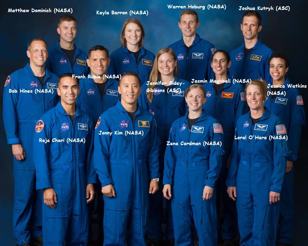La classe d'astronautes 2017 11145