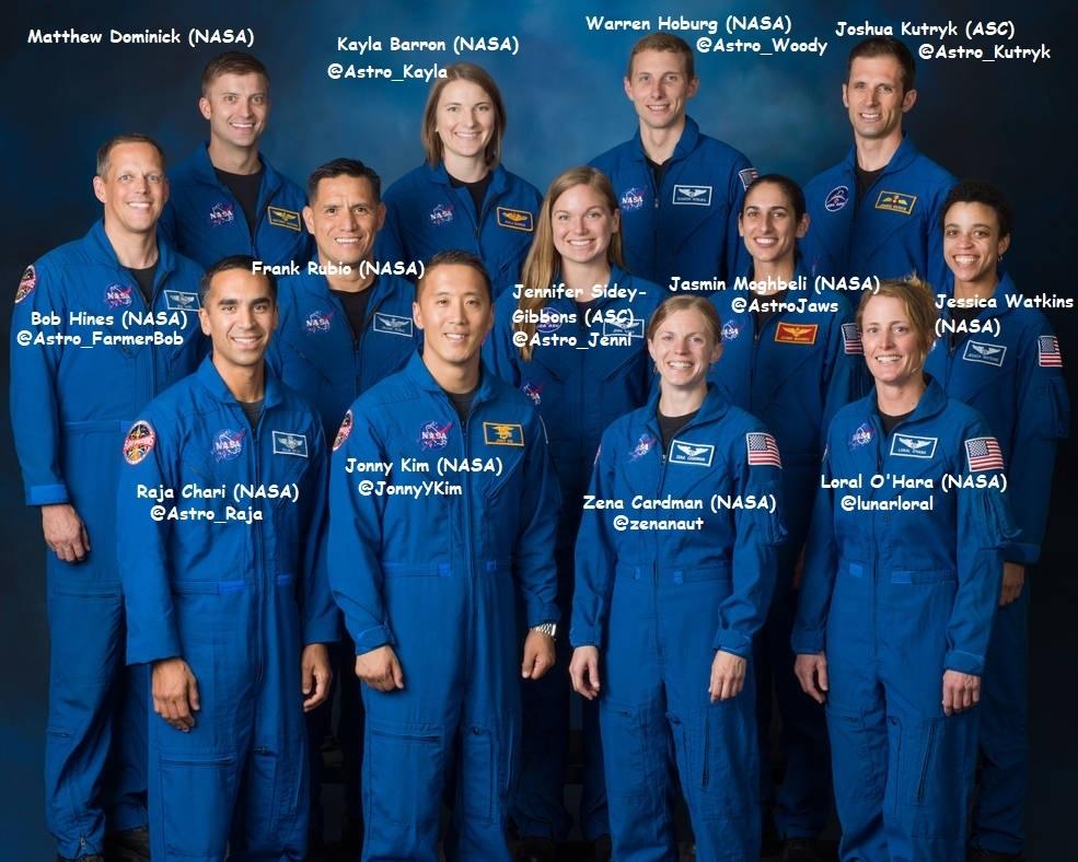 La classe d'astronautes 2017 1114510