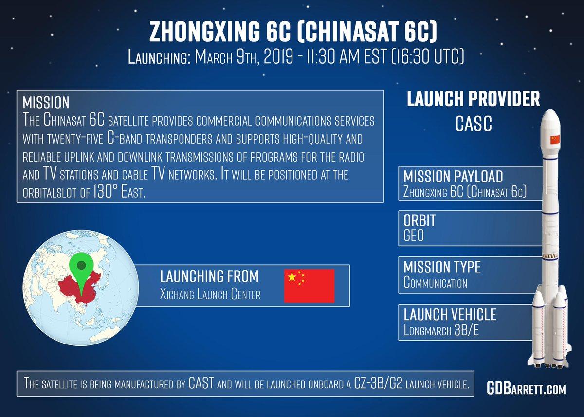 CZ-3B (ZhongXing-6C) - 9.3.2019 1501