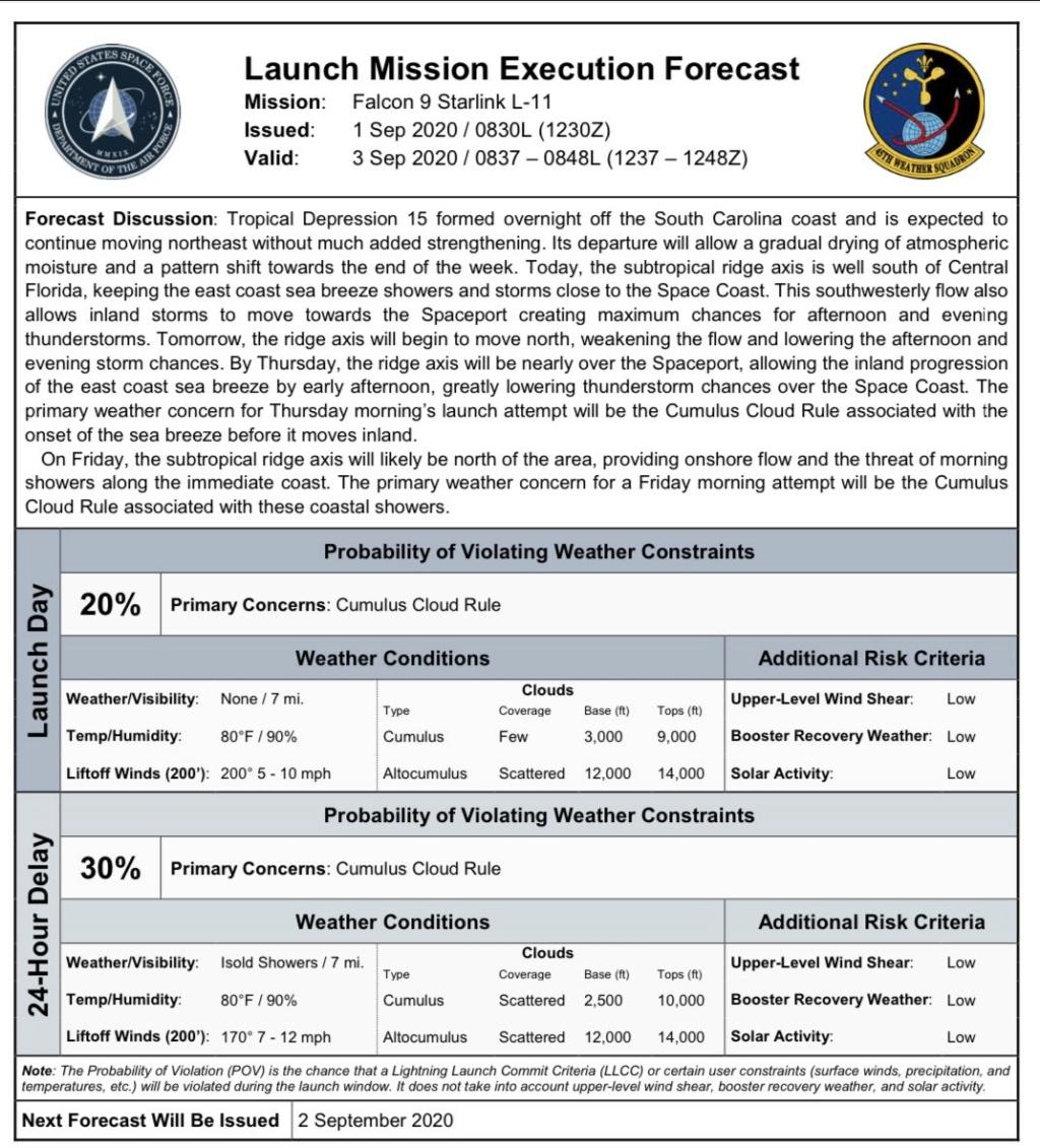 Falcon 9 (Starlink V1. 0 L11)- KSC - 3.9.2020 [Succès] 1_jfi181