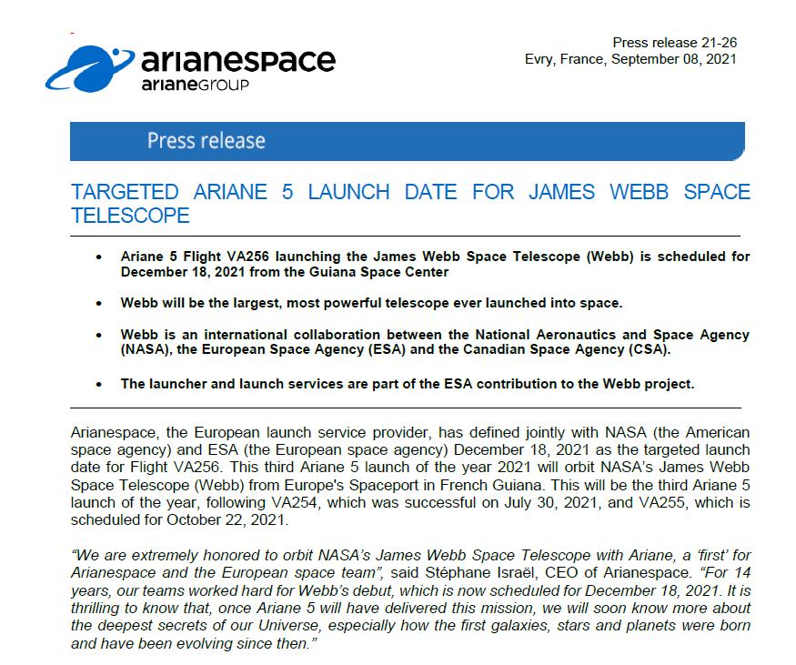 Ariane 5 VA256 (JWST) - CSG - 18.12.2021 A099a410