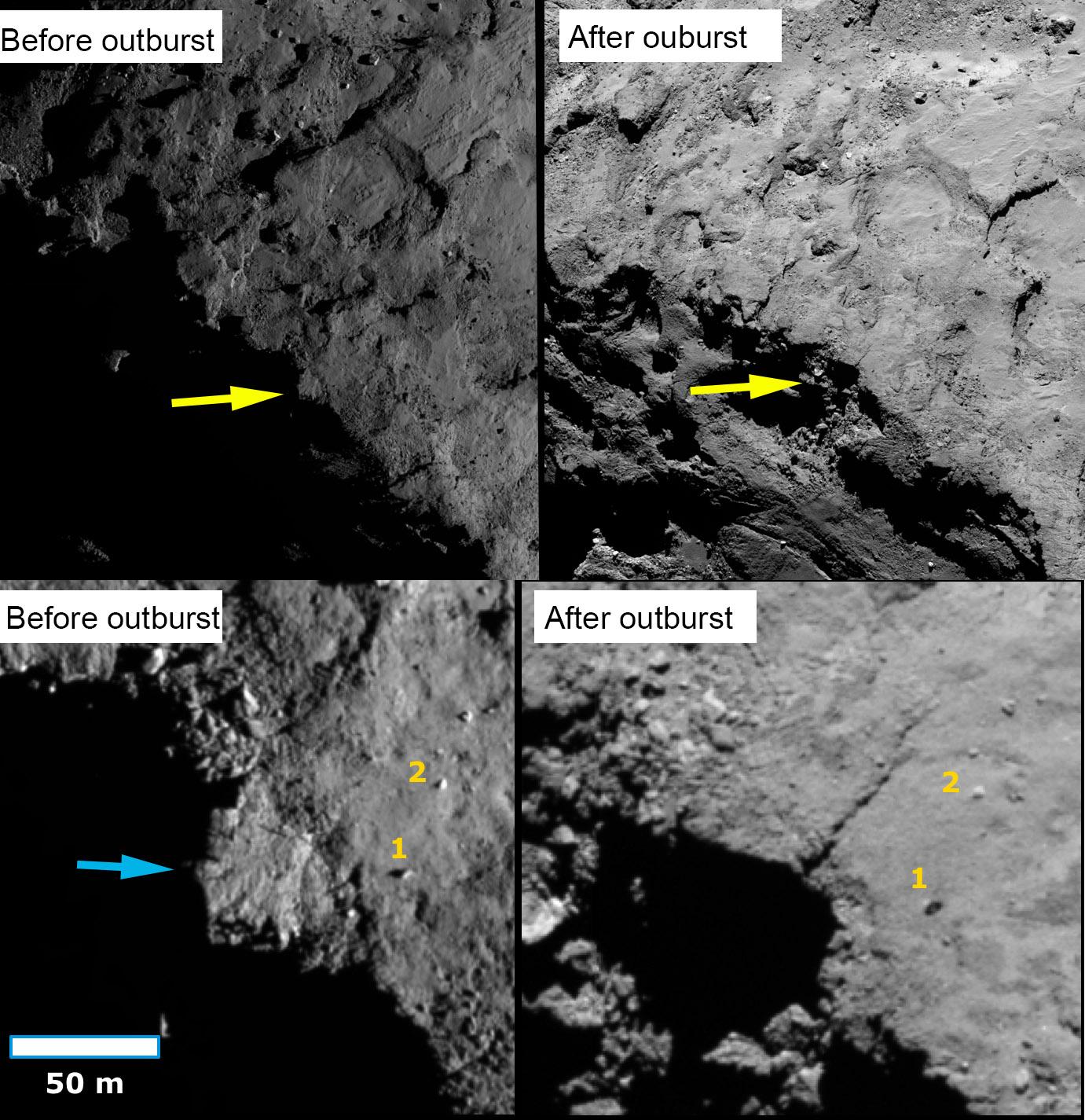 Rosetta : Mission autour de la comète 67P/Churyumov-Gerasimenko  - Page 33 Cliff_10