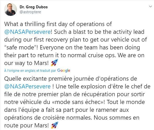 Mars 2020 (Perseverance) : voyage et atterrissage Scre1452