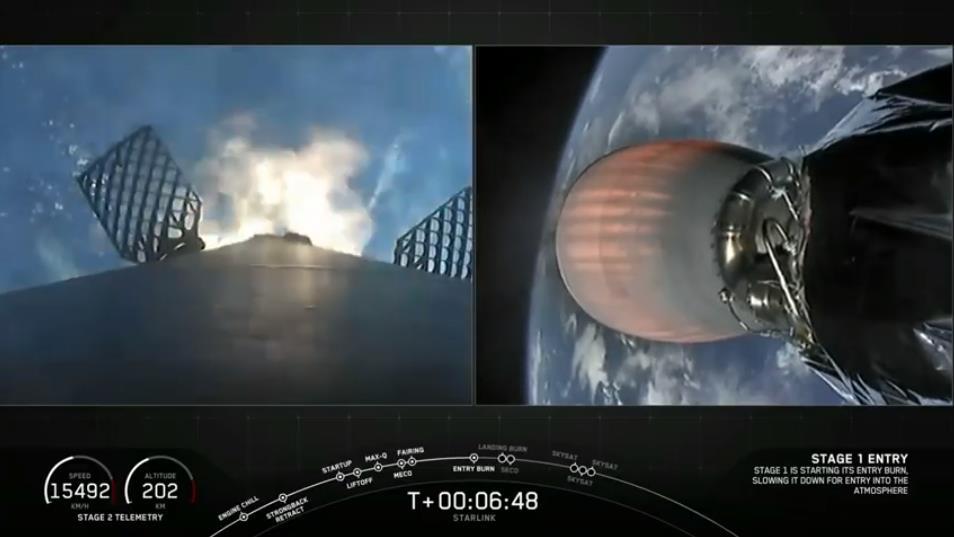 Falcon 9 (Starlink v1.0 L10 + SkySat 19–21) - CCAFS - 18.8.2020 [Succès] Scre1484