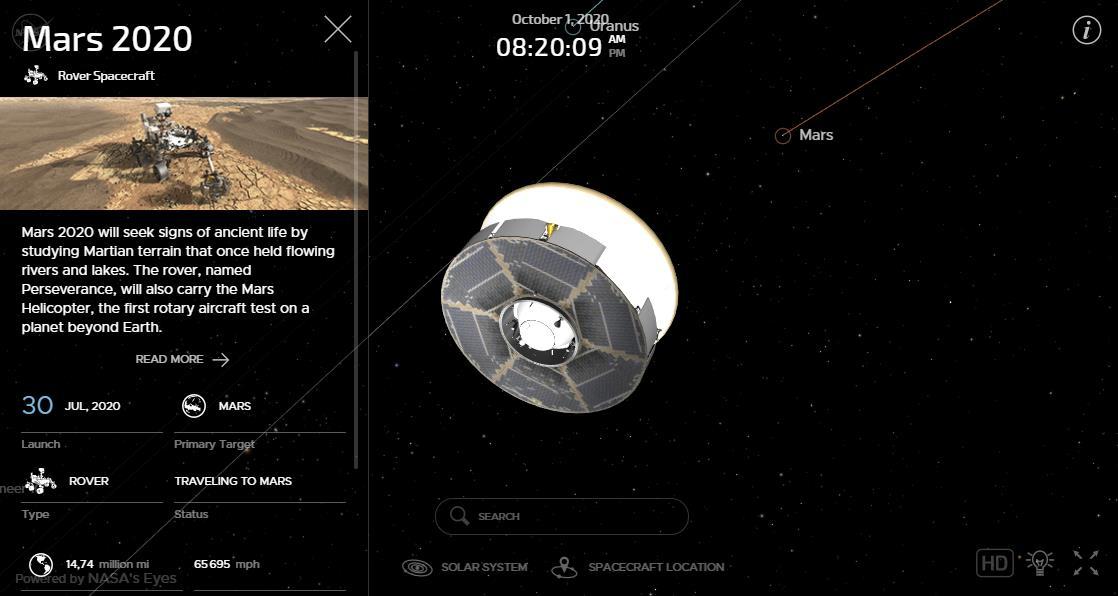 Mars 2020 (Perseverance) : voyage et atterrissage Scre1575