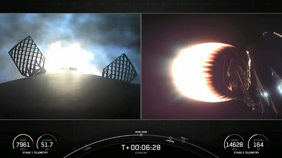 Falcon 9 (Starlink v1.0 L22) - CCSFS - 24.3.2021 Scre1879