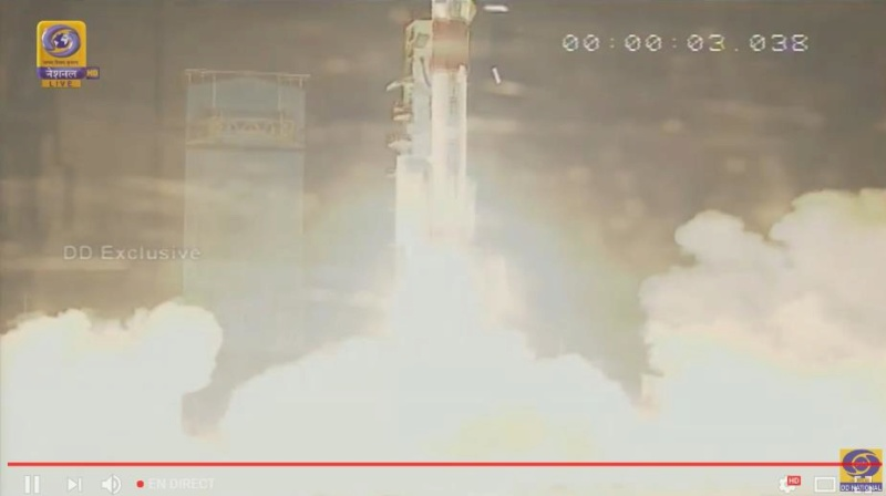 PSLV C42 (SSTL-S1 + NovaSAR-S) - 16.9.2018 Scree133