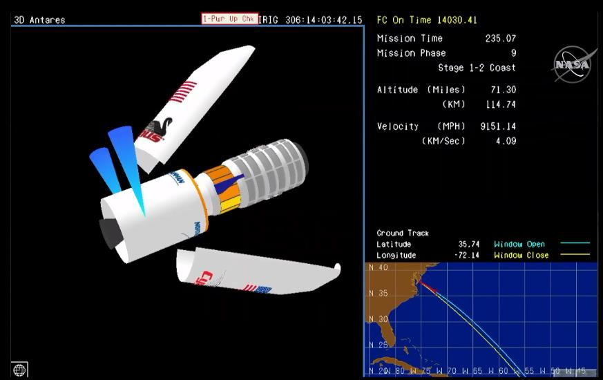 Antares 230 (Cygnus NG-12) - WFF - 2.11.2019 Scree902