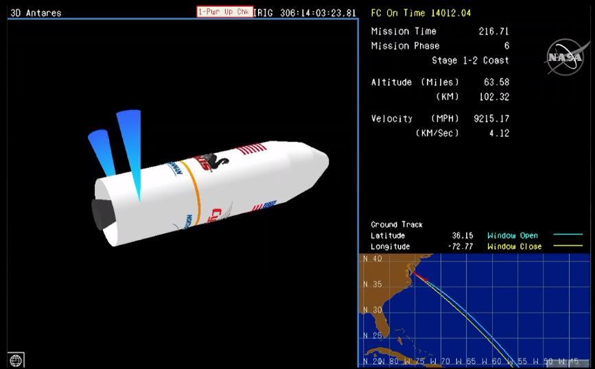 Antares 230 (Cygnus NG-12) - WFF - 2.11.2019 Scree903