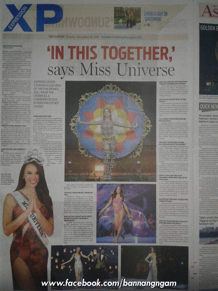 ♔ The Official Thread of MISS UNIVERSE® 2018 Catriona Gray of Philippines ♔ - Page 3 Fb_i6113