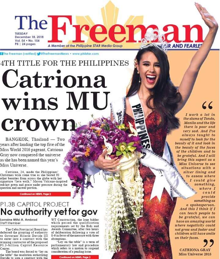 ♔ The Official Thread of MISS UNIVERSE® 2018 Catriona Gray of Philippines ♔ - Page 6 Fb_i6472