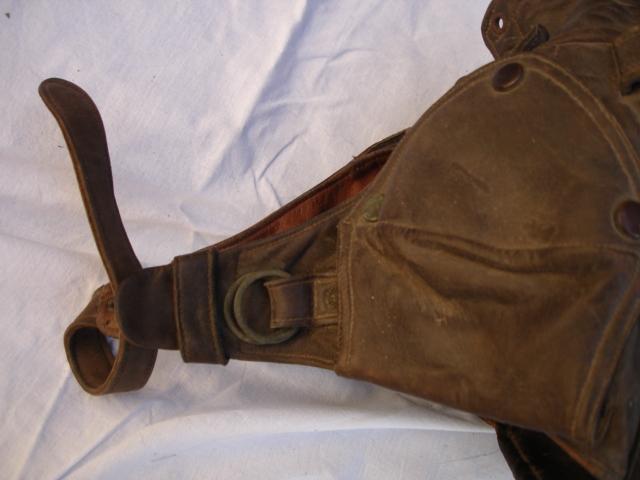 casque aviateur en cuir Dsc09685