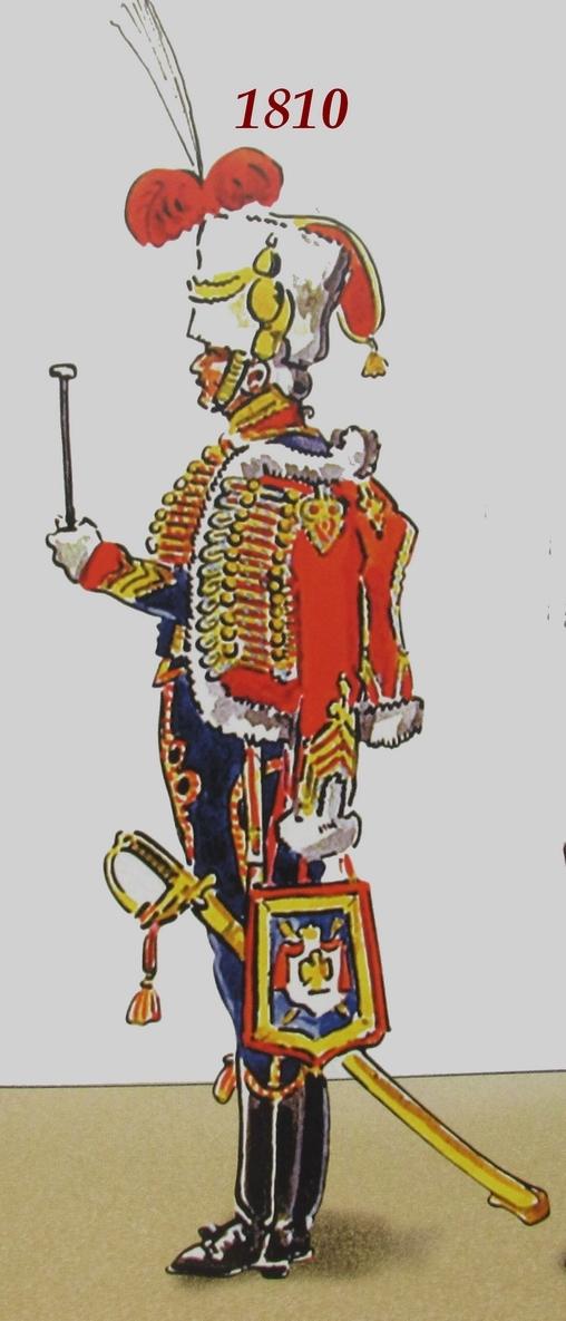 Timbalier des chasseurs à cheval de la Garde Impériale (tenue à la hussarde, 1810) Tambal11