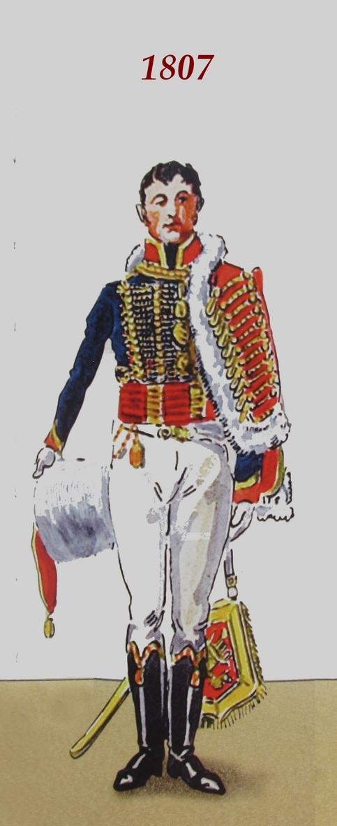 Timbalier des chasseurs à cheval de la Garde Impériale (tenue à la hussarde, 1810) Tambal12