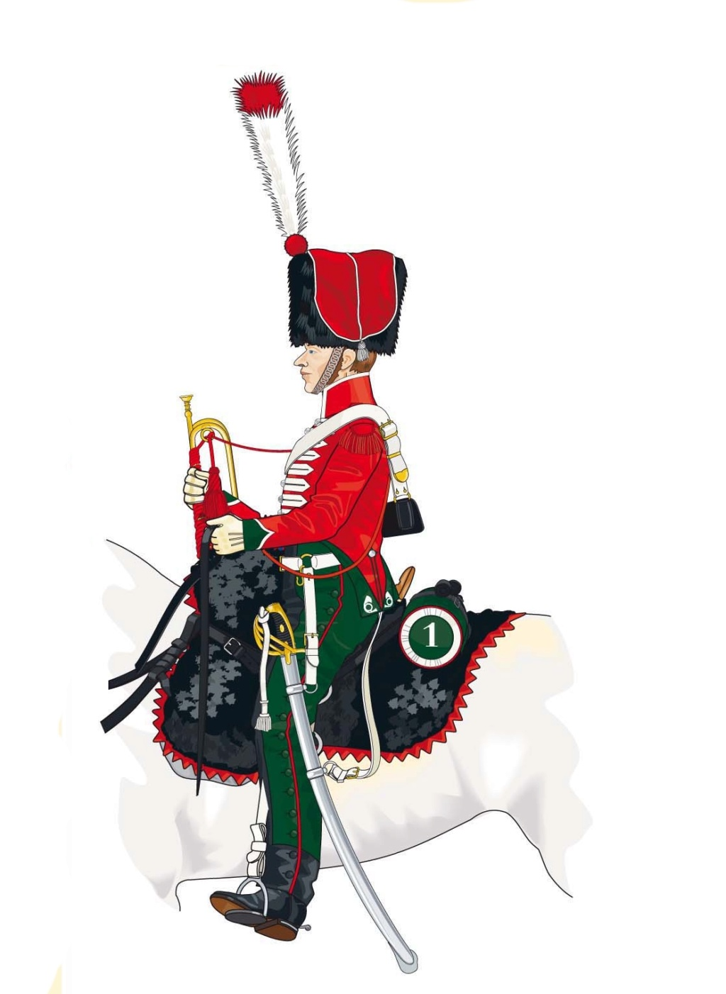 Trompette de Chasseurs à cheval Trompe13