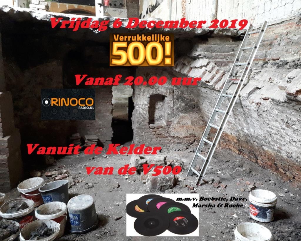 Vrijdag 6 december: Uit de Kelder van de V500 Kelder10