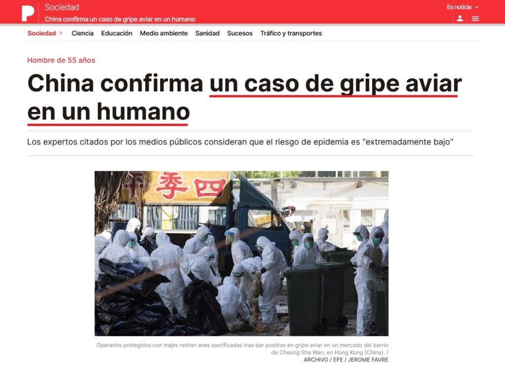 • China detecta el primer contagio de gripe aviar en humanos... Coron424