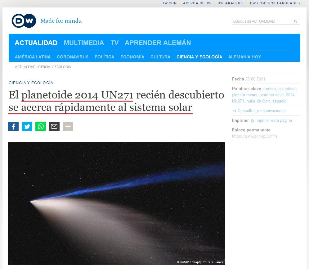 • Un enorme objeto se aproxima peligrosamente hacia el Sol... Herczl48