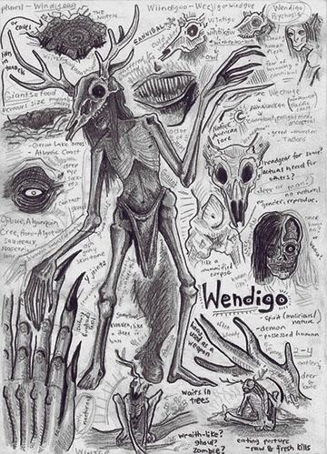 Wendigo [T: Criatura mágica] [L: Bosques y Cementerios] [D: Difícil] 2222213