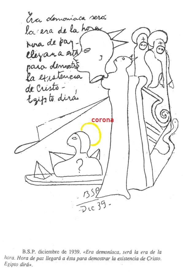 la esfinge con corona de metal  Corona10