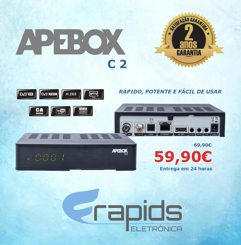 APEBOX C2 - RECETOR HD (SAT+CABO+TDT) IPTV Banner10