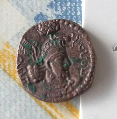 AE dracma Hormazd I Kushanshah. 3410