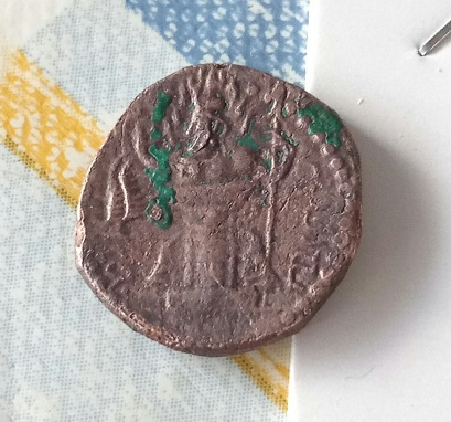 AE dracma Hormazd I Kushanshah. 34a10