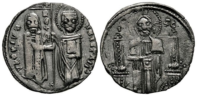 Dinar serbe par Stefan Uros II Milutin 3710