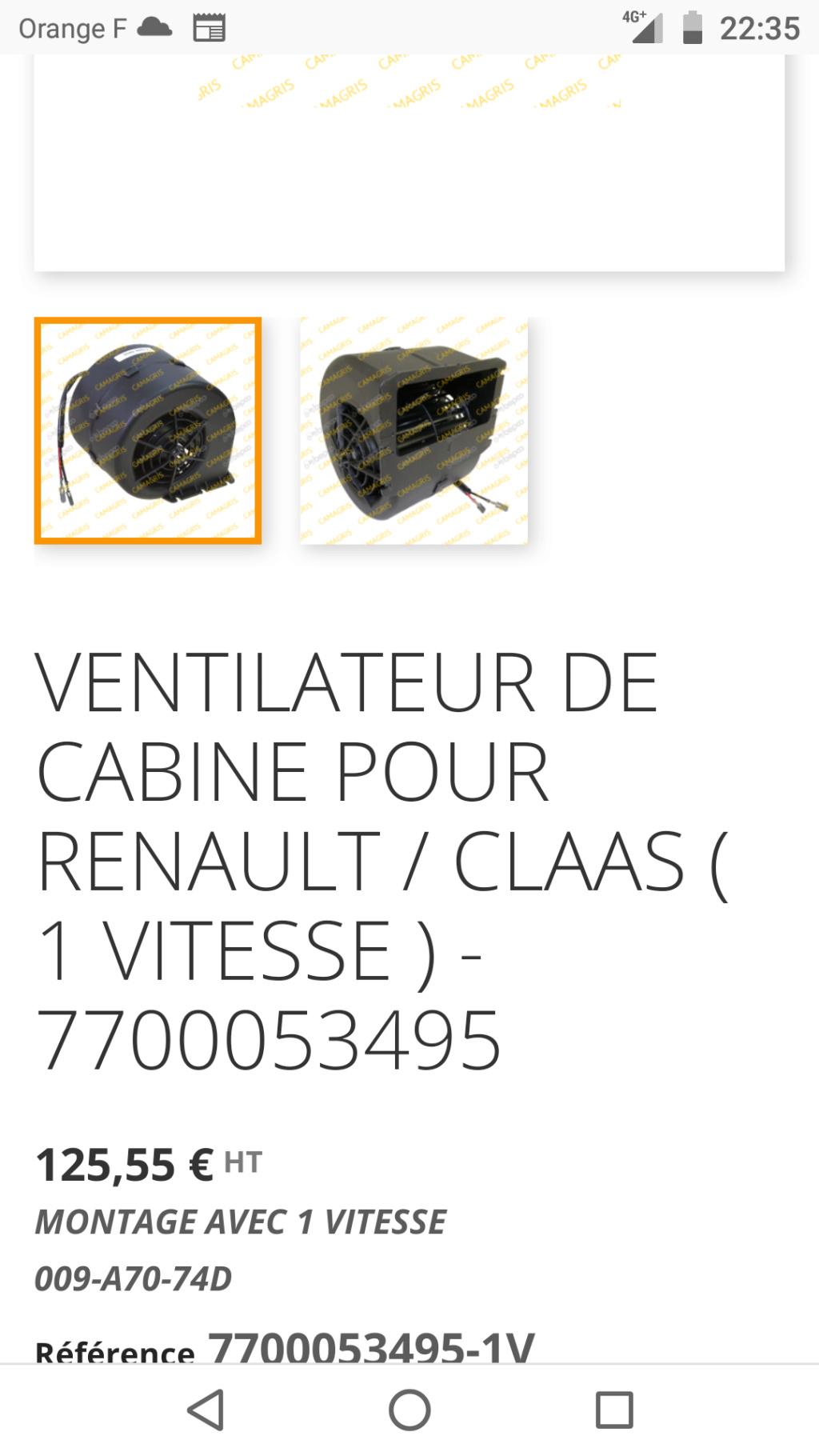 Soucis de ventilation en cabine Renault Arès 640 RZ Screen47