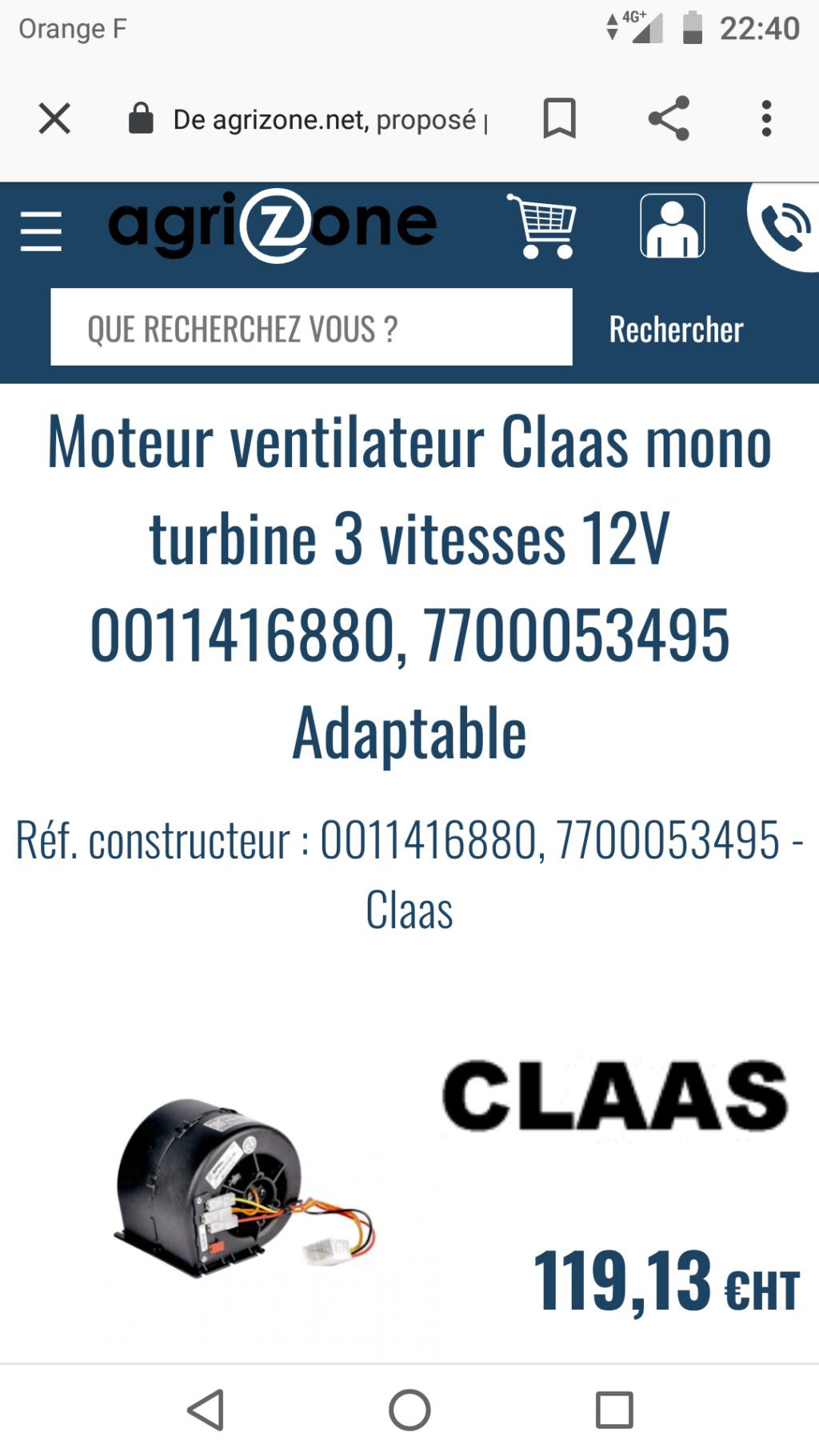 Soucis de ventilation en cabine Renault Arès 640 RZ Screen48