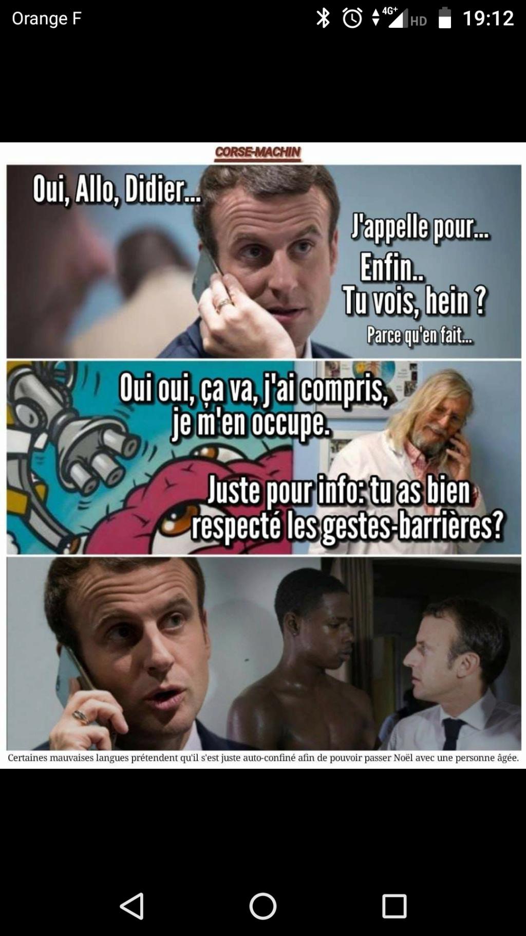 L'année 2020 se finit bien, Macron est positif au covid Screen62