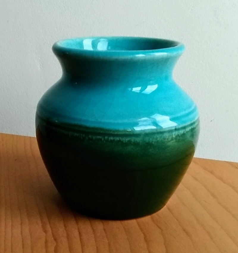 Small blue and green vase Img_2023
