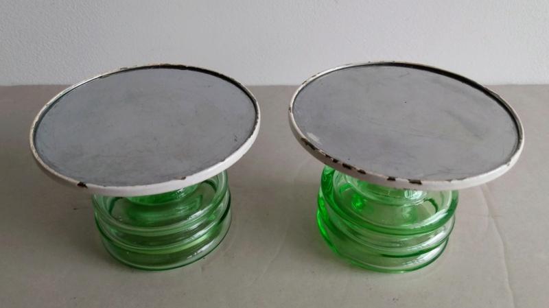 Uranium glass candle holders Img_2112