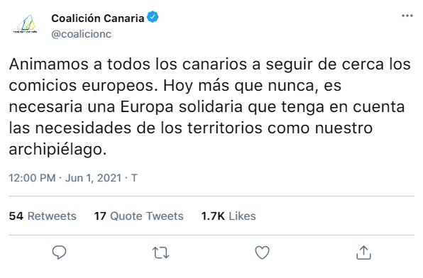 COALICIÓN CANARIA   REDES SOCIALES  Tweet_22