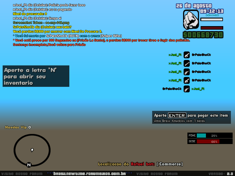Denuncia Player SrPatoShock A310