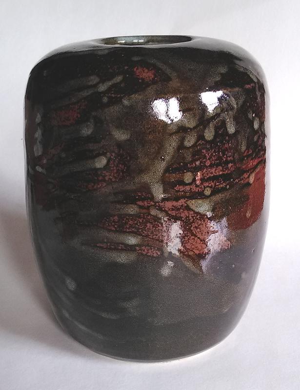 Stoneware cylinder vase signed Cylind21