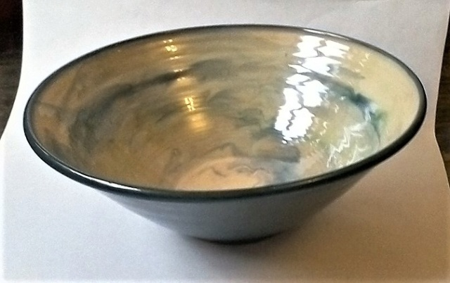 Large French signed Fruit/Salad Bowl Deb111