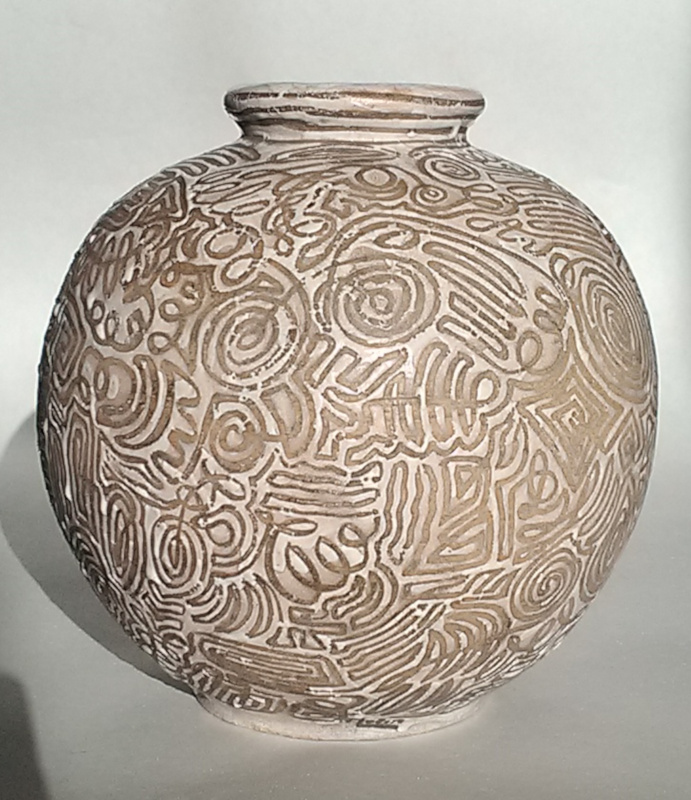 Vase marked GEBE and decorator MORIN - FELIX GETE Gebe110