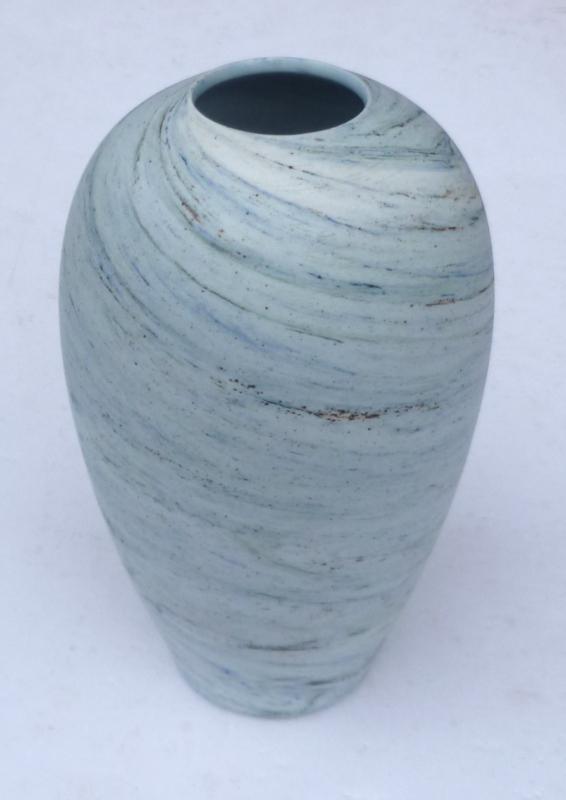 Porcelain Nerikomi Neriage Agateware Vase marked gO ... or gB? Neriag13