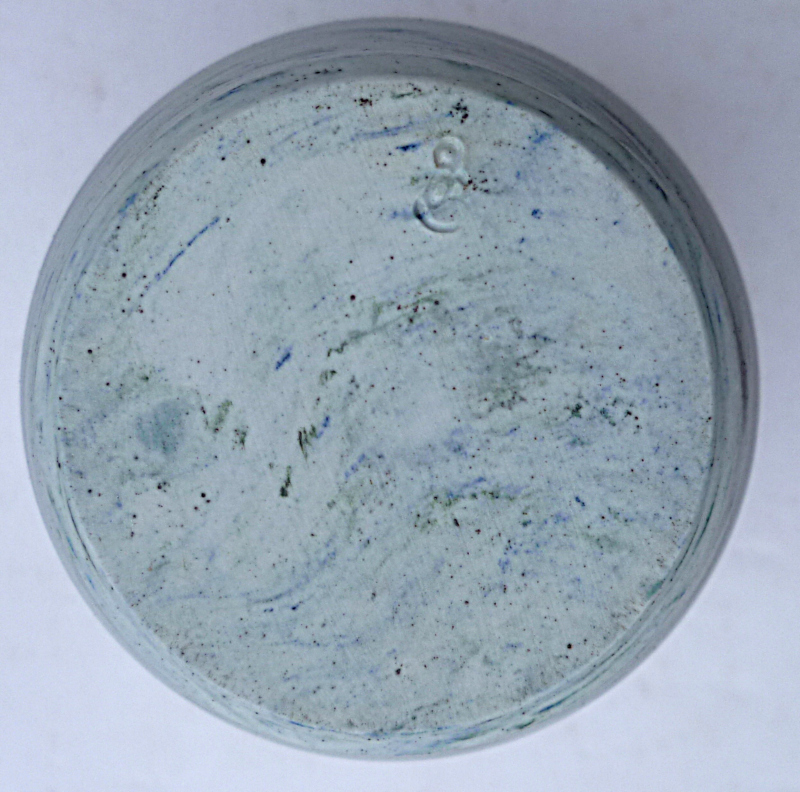 Porcelain Nerikomi Neriage Agateware Vase marked gO ... or gB? Neriag14