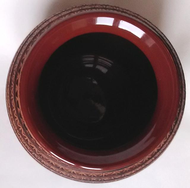 Large Patterned Globular Vase - unmarked Patter10