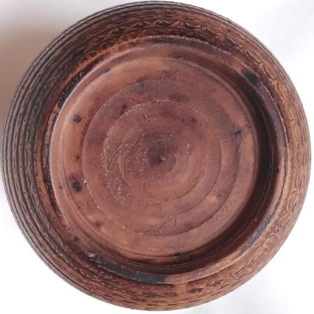 Large Patterned Globular Vase - unmarked Patter12