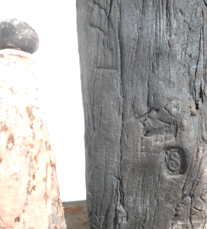 Raku Sculpture marked S Sculp110
