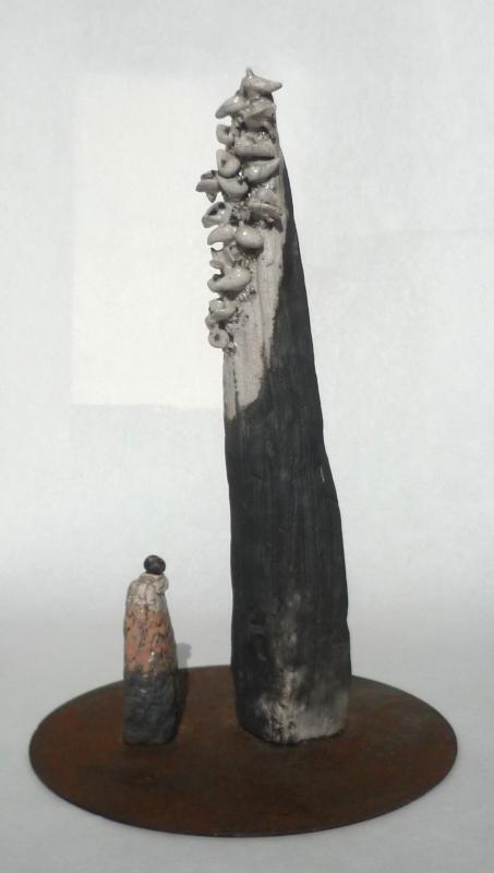 Raku Sculpture marked S Sculp210