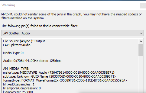 Need help. 3 Errors runing a video in MPC-HC Img210