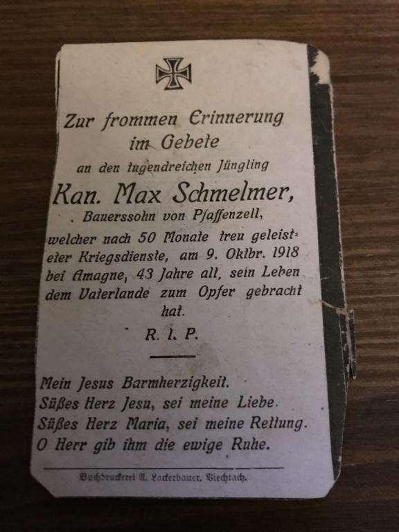 Avis de décès soldat allemand 14-18  - Page 2 436dc610