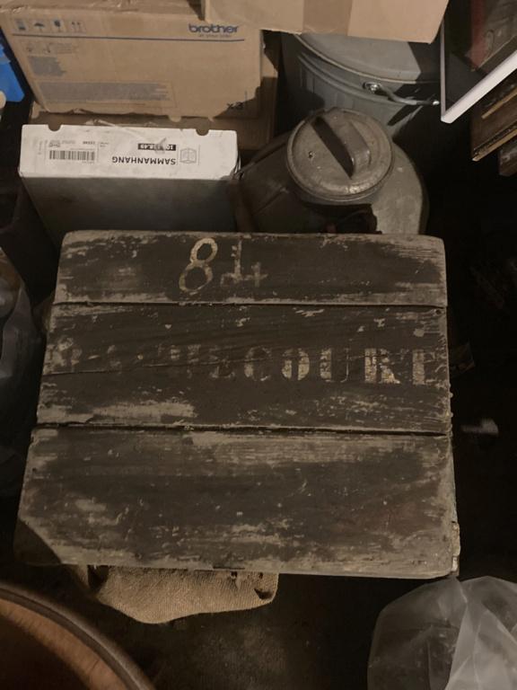 Claie de portage obus 10,5cm et caisse inconnue 4ae35710