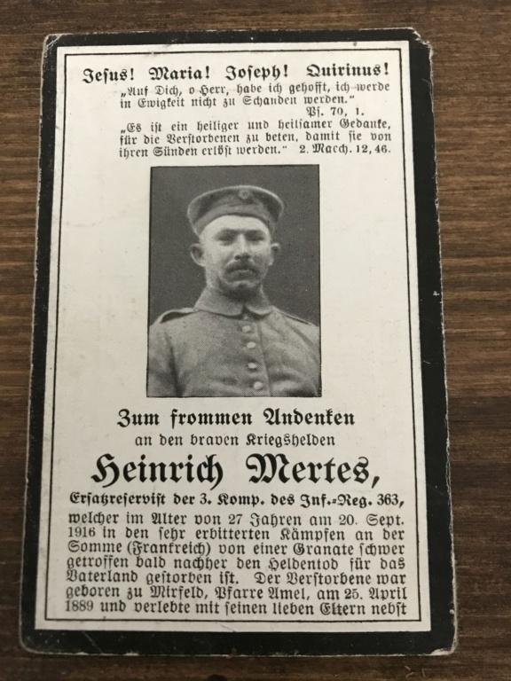 Avis de décès soldat allemand 14-18  - Page 2 7766f510
